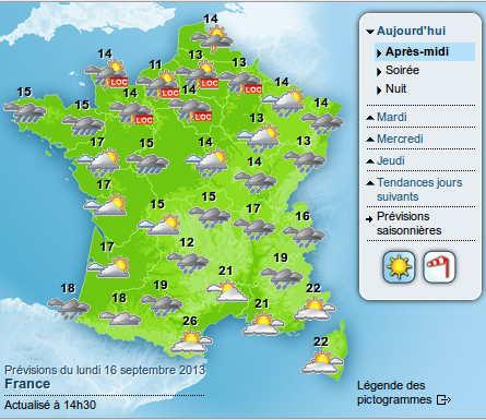 Météo France 16 Sept